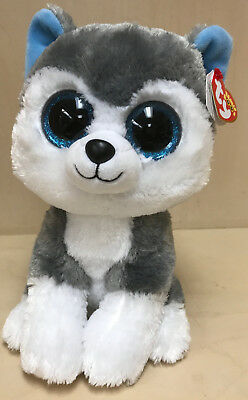 "370f7847720 TY BEANIE BOO Slush The Husky- Large 17"" Brand New With Tags ..."