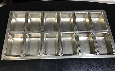 """ECKO COMMERCIAL 12 Muffin CAKE Bread 4""""x2-1/2"""" FULL SIZE SHEET BAKING PAN 20x10"""""""