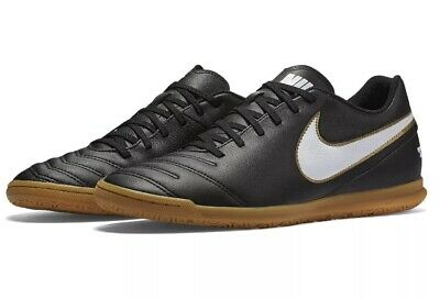 b51598bfd Nike Tiempo Rio III IC 819234 010 Black/ White Men's Indoor Soccer Shoes Sz  10.5