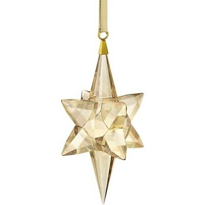 Swarovski Large Gold Star Ornament / Brand New Box