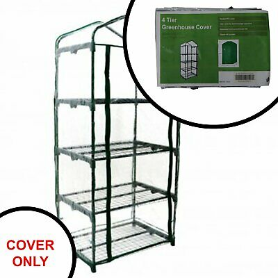 Replacement Spare PVC Cover for 4 Tier Mini Growhouse Garden Greenhouse