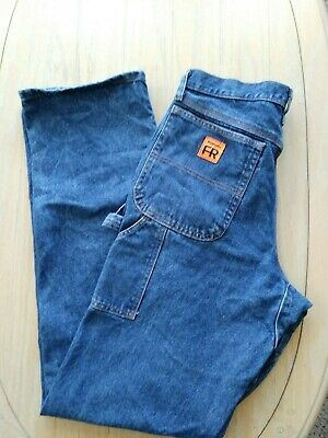 7d70d809 Mens 32x38 WRANGLER® FR FLAME RESISTANT, RIGGS CARPENTER STYLE JEANS good  used.
