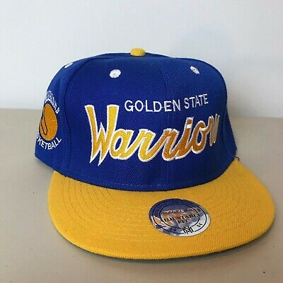 5710f4086d075 Golden State Warriors Mitchell   Ness Vintage Special Script Snapback Hat  NBA