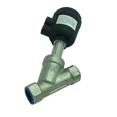 1PC Pneumatic Angle Seat Valve Dual-acting Air Actuate Angle Seat Valve DN20