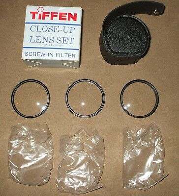 "Tiffen 55MM Close Up Lens Set  1, 2 and 4 Filters With Case ""New Old Stock"""