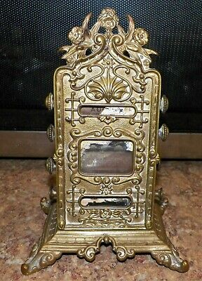 Antique Victorian Edwardian ~ Desktop ~ Cast Brass Perpetual Calendar