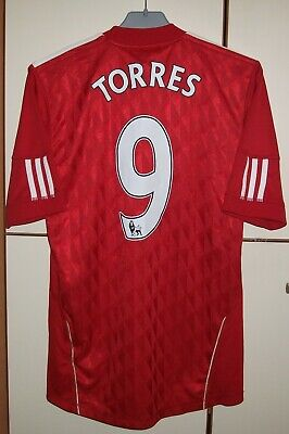 2cb1f61f5 Liverpool 2010-2012 Football Soccer Home Shirt Jersey Adidas  9 Torres Size  S