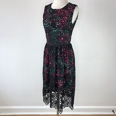 e13cf698b931 Anthropologie Wolven Multi-color with Scallop Overlay Dress | Womens 6