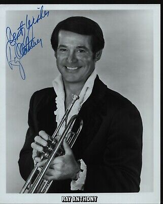 "RAY ANTHONY Hand Signed Autographed 8x10"" Photo w/COA - GLEN MILLER ORCHESTRA"
