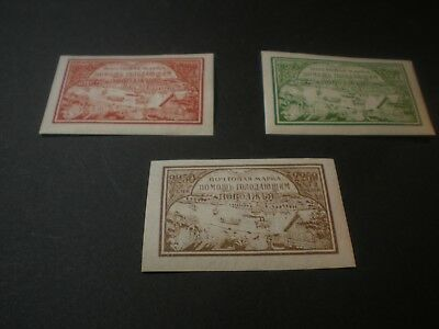South Russia / Finland OLD Large Stamps lot of 3 Mint Hinged