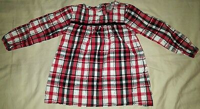 long sleeve red plaid tunic, toddler, girl, size 2T, Carter's, top, shirt