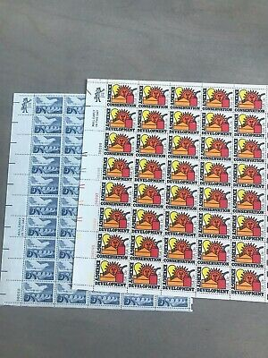US Stamp Sheet Lot - 2 sheets of 13cent stamps - BELOW FACE VALUE