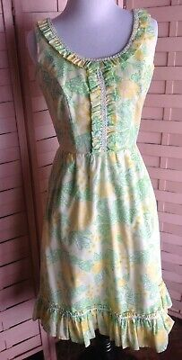 16c5a0e30f75 The Lilly. Vintage Lilly Pulitzer Yellow And Green Sleeveless Summer Dress  Small