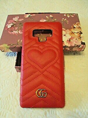 1d47b43c2 Gucci Case for IPhone Red Leather with Logo and Gift Box New
