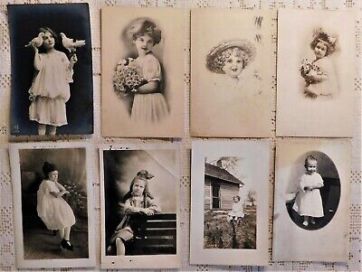 LOT OF 8 VINTAGE POST CARDS - EARLY 20th CENTURY - CHILDREN THEME*
