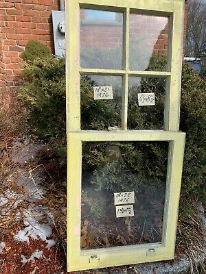 2 - Vintage Window sash 18 x 20 top old 4 pane from 1926 Arts & Crafts