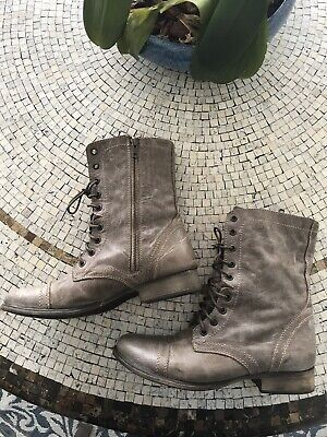 697842b2c5e STEVE MADDEN TROOPA 2.0 Leather Combat Boots CHOOSE COLOR AND SIZE ...