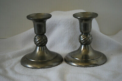 Royal Holland Pewter Candle Stick Holder Pair Made in Portugal Daalderop