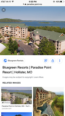 Bluegreen Vacation  11,000 points Paradise Point Hollister,MO