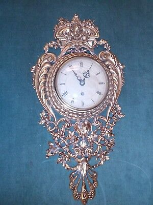 Vintage SMITHS 8 Day 4 Jewel Ormolu Wall Clock - Great Britain