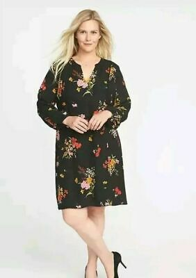 6219a1f0d6d2 NWT Old Navy Floral-Print Georgette Plus size Swing Dress for Women (2X)