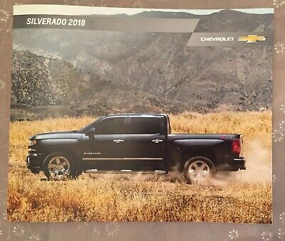 Brand New 2018 CHEVY SILVERADO 54-page Original Sales Brochure Free Shipping