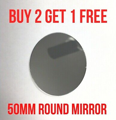 50mm Round Shatterproof Flexible Light Weight Sized Pocket Travel Mirror Small