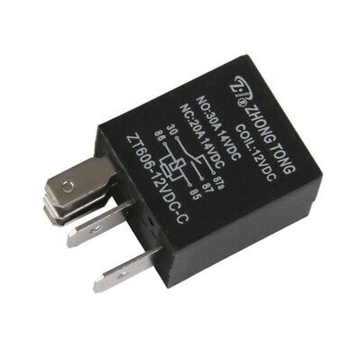 Sales Black DC 12V 20A/30A SPDT Premium Relay 5-Pin 5P For Car Auto