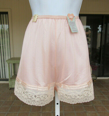 VTG 1950s 60s CARTERS JUNIOR FIGURE PEACH PINK PANTY SIZE 13 FLORAL LACE RAYON