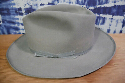 Vintage Stetson Royal DeLuxe Open Road Hat Sz 7 Silver Belly 1950s Rare Color