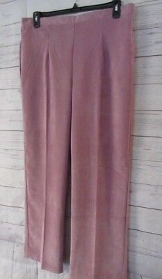 Alfred Dunner Plus Winter Gardens Rose Proportioned  Pull on Women/'s Pants $52