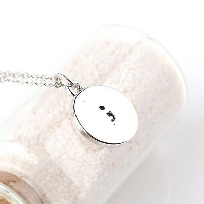 Semicolon Mental Health Awareness Silver Charm Necklace Brand New Free Shipping