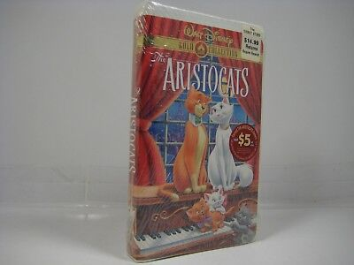 Walt Disney Classic Gold Collection- The Aristocats (VHS) New, Sealed