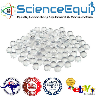 Glass Round Beads, Solid, Laboratory, 500gm/Bag- 2mm