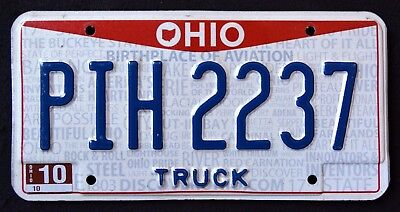 """OHIO """" BIRTHPLACE OF AVIATION - TRUCK """" DISCONTINUED """" OH Graphic License Plate"""