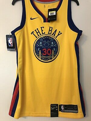 7c7e3a2eb686 NWT Golden State Warriors Stephen Curry The Bay Chinese Heritage Jersey  Size S