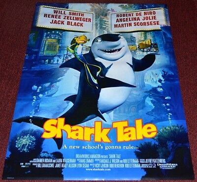 SHARK TALE 2004 ORIG. 27x40 MOVIE POSTER! WILL SMITH & ROBERT DeNIRO ANIMATION!