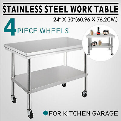 Stainless Steel Kitchen Work Bench Top Food Grade Catering Prep Table