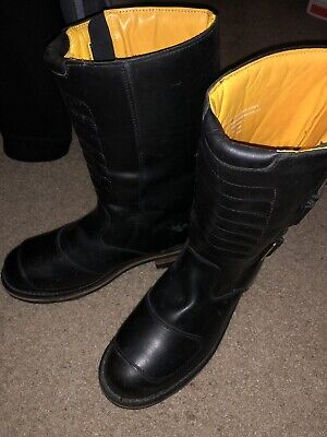 a9f4fa48a Guide Gear Men's Black Leather Boots Size 11 M Motorcycle Side Strap