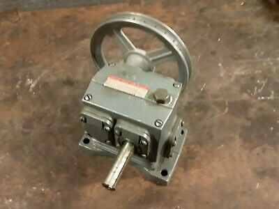 Boston gear speed reducer tw113a-150 dm5 1750 rpm .170 hp 150 to 1 6 in pulley
