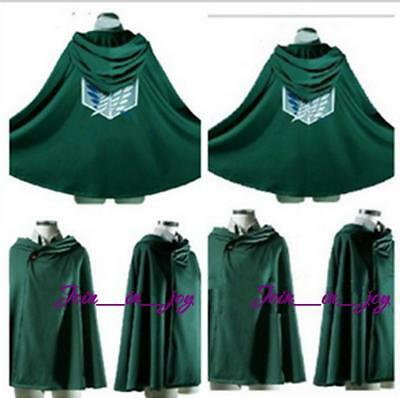 Attack on Titan Japanese Anime Shingeki no Kyojin Cloak Cape Cosplay Clothing WL