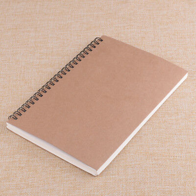 A5 Vintage Spiral Coils Blank Notebook Journal Diary Notepad Exercise Book