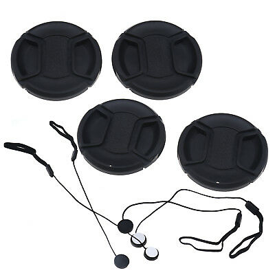 Black 58mm Camera Front Lens Cap Cover For Sony Nikon Olympus Pentax With String