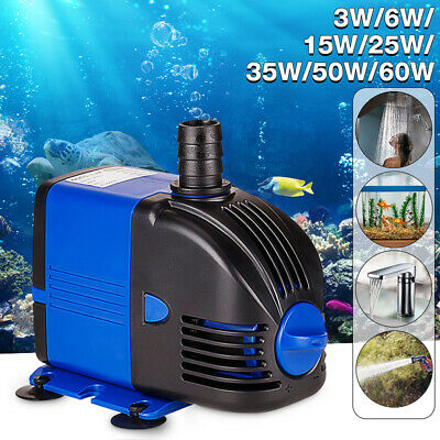 Submersible Water Pump Fish Tank Aquarium Pond Fountain Small Water Feature Pond