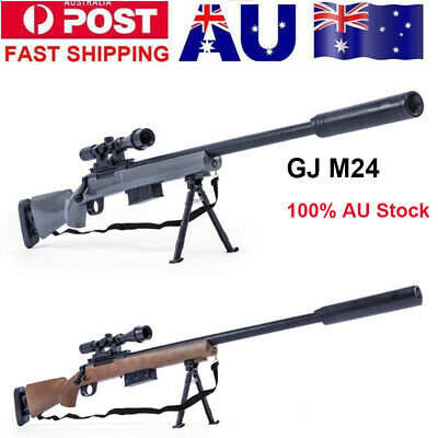 Manual Bolt Action GJ M24 Gel Ball Blaster Mag-fed Water Toy Sniper Gun AU Stock