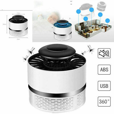 12V LED Mosquito Killer Fly Insect Repellent Lamp Catcher USB Charging (White)