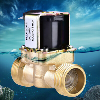 "DC24V 3/4"" One-Way Guide Normally Closed Brass Electric Solenoid Valve For Water"