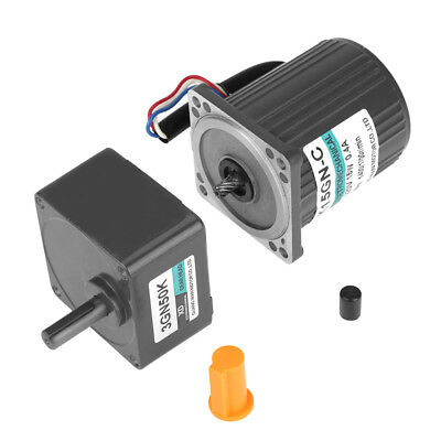 220V AC 15W Large Moment of Force Metal Gear Motor Low Speed CW/CCW UK