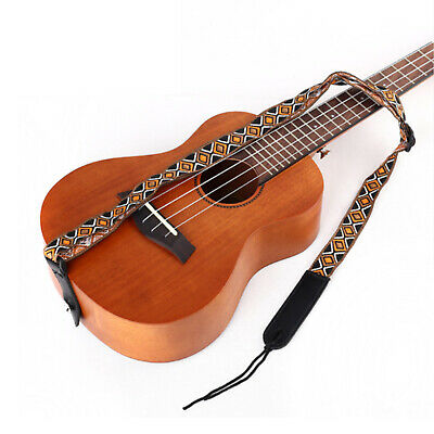 GSTU-60-BK Gaucho Standard Series ukulele strap Black Leather