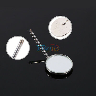 50Pcs Dental Orthodontic Stainless Steel Mouth Mirrors Plain Mirror Brand New oe